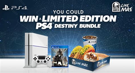 Taco Bell Playstation Giveaway - white ps4 giveaway announced by taco bell