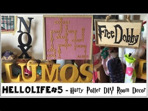 hellolife 5 harry potter diy room decor
