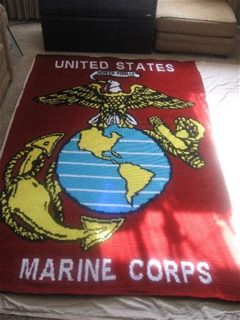 crochet pattern for army afghan marine corps afghan