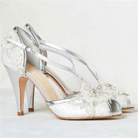 Wedding Shoes Lace by Wedding Shoe In Ivory Lace By
