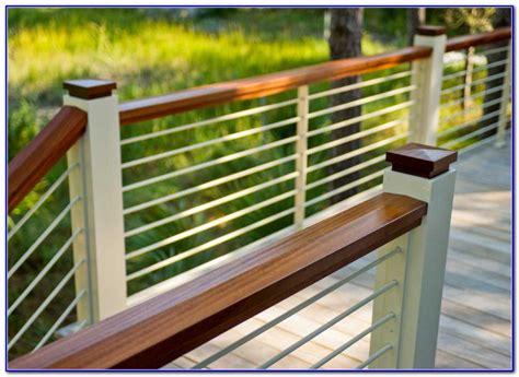 horizontal metal railing horizontal aluminum deck railing page best home