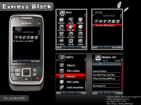 searching black themes nokia 6120c express black theme s60v3 by magu112 on deviantart