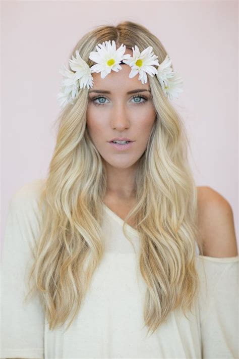 hairstyles with plastic headband daisy flower crown headband wedding hair bands