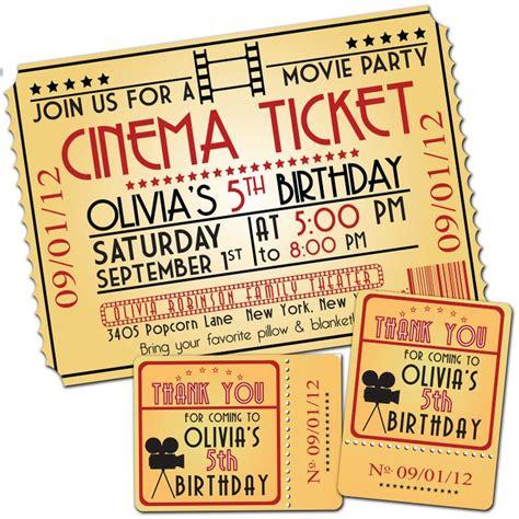 movie night party invitation movie night birthday party themed invitation favor tags