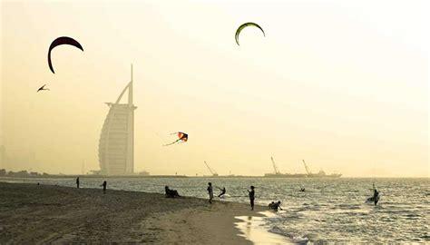 UAE Dubai Metro City Streets Hotels Airport Travel Map Info: Kite Beach Dubai Map   Dubai