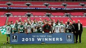 fa vase fa trophy and fa vase set to be staged on same day from