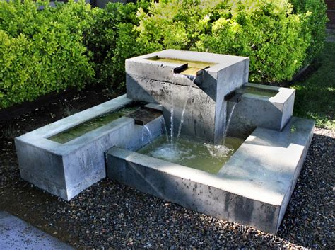 modern water fountain kingbird design llc water features