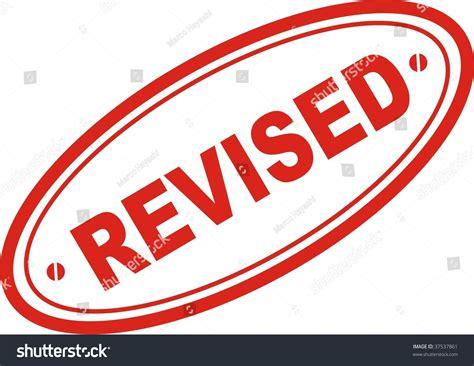 art work revised red st word revised stock vector 37537861 shutterstock