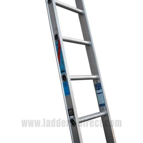 single section ladder clow aluminium ladder single to bs2037 class 1 ladders