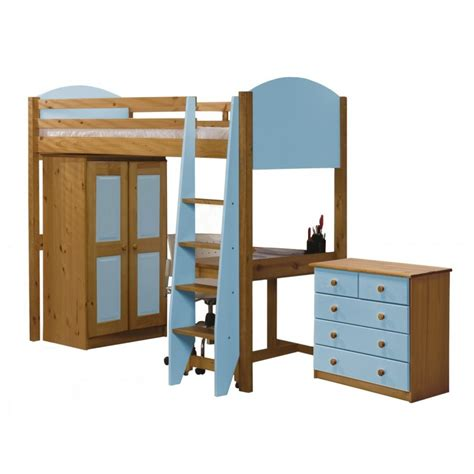 verona highsleeper bed in solid pine available as set
