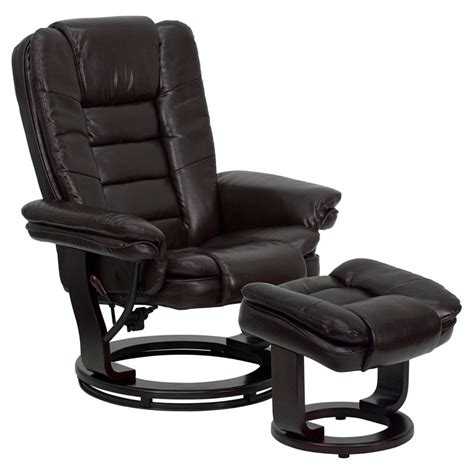 recliner and ottoman set leather recliner and ottoman set in leather recliners