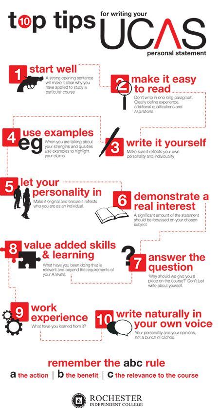top tips for writing your ucas personal statement tips info graphics suddenly