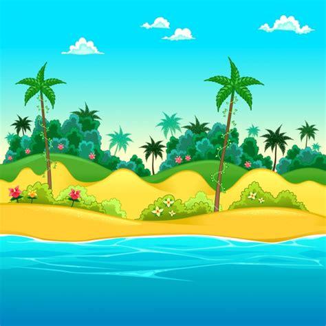 clipart gratis da scaricare paesaggio in riva al mare vector illustrazione