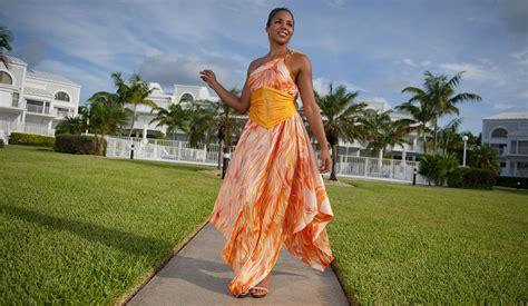 beach themed clothing line look book for aruba custom silk beach wedding dresses