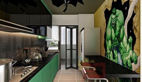 Comic Book Themed Living Room by Marvel S Themed Apartment Designed In Singapore Ign
