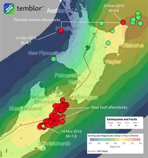 earthquake zones nz 14 november 2016 mw 7 8 new zealand earthquake shows an