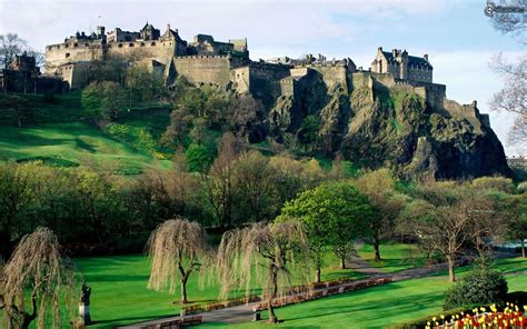 South Garden Castle Rock Edinburgh Castle