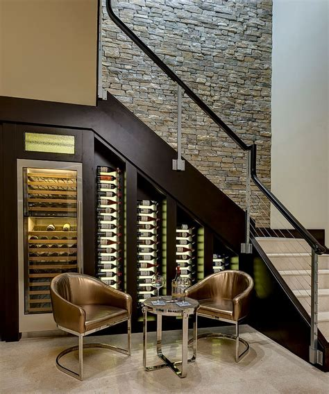 decor designs 20 eye catching under stairs wine storage ideas