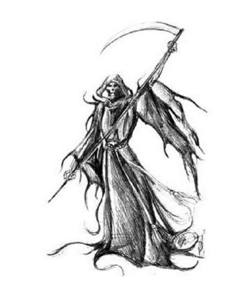 anime grim reaper coloring pages