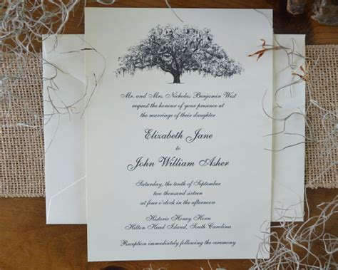 Oak Tree Wedding Invitations by Live Oak Tree Wedding Invitations