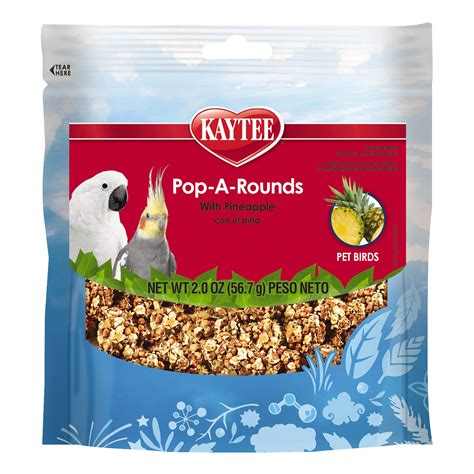 kaytee pop a rounds pineapple treat for all pet birds