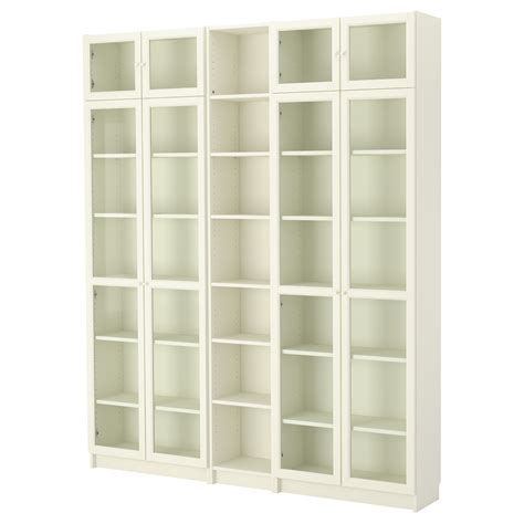 Billy Oxberg Bookcase White 200x237x30 Cm Ikea Ikea White Billy Bookcase