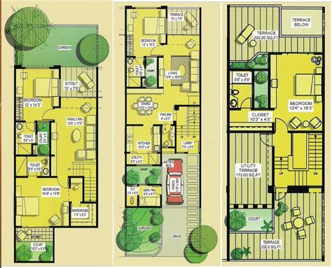 indian row house plans row houses floor plans india