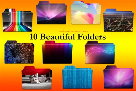 make your own file 10 beautiful folders by reyhan06 on deviantart