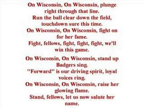 song on univ of wisconsin fight song