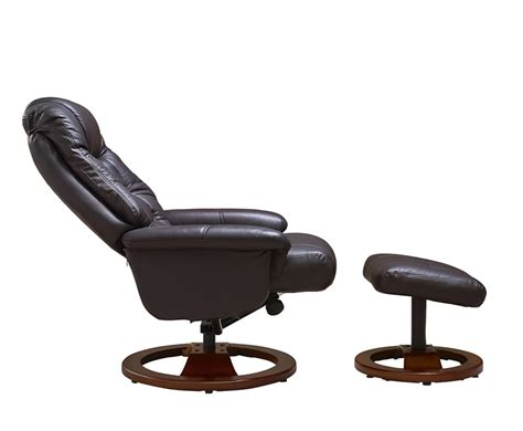 leather swivel recliner chair and stool jeremiah red wine bonded leather swivel chair and foot stool