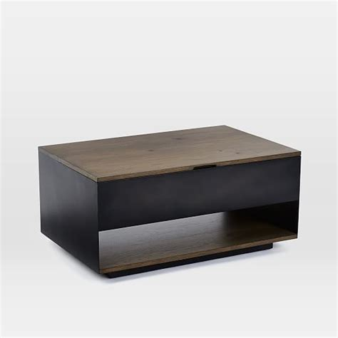 pop up end table massaro pop up coffee table west elm