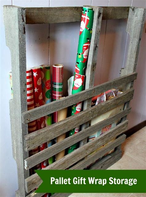 How To Wrap A For Storage by Pallet Gift Wrap Storage The Creek Line House