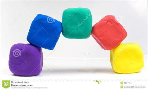 colorful clay colorful modeling clay stock images image 10617764