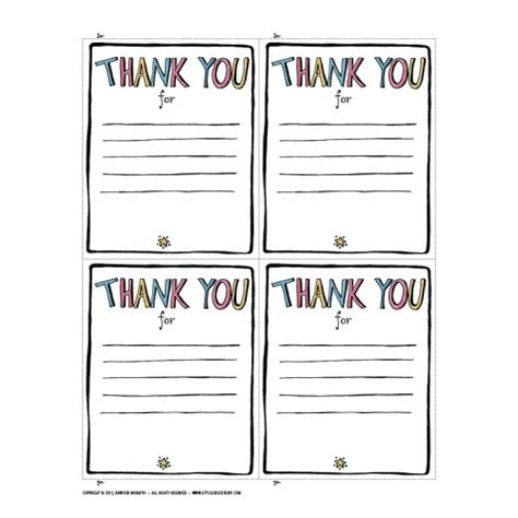 Fill In The Blank Thank You Card Template by Thank You Printable Designs