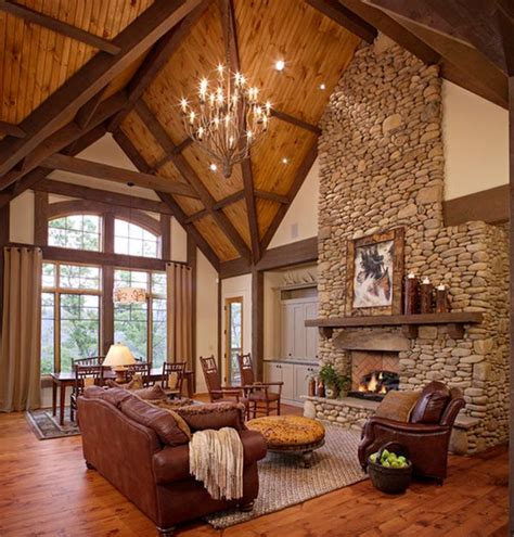 pictures of beautiful living rooms with fireplaces 34 beautiful stone fireplaces that rock
