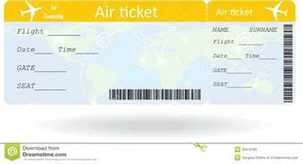 Plane Ticket Template airline ticket templates template 91 free word excel pdf variant air white vector illustration