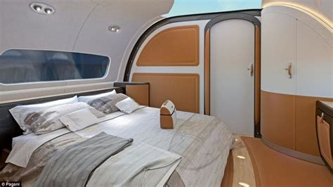 jet with bedroom airbus and pagani unveil jet with sky ceiling daily mail