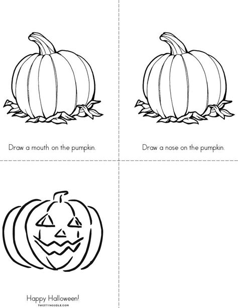 make your own jack o lantern printable jack o lantern book twisty noodle