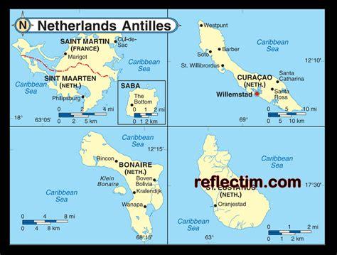 netherlands antilles map the netherlands antilles