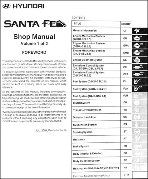 service manual repair manual 2003 hyundai santa fe free hyundai 2003 santa fe owner s manual