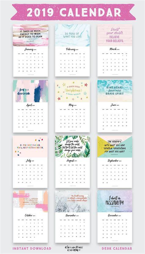 printable  inspirational quotes calendar  bonus calendar  printable