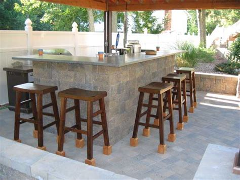 Outdoor Bar Designs With Back Wall Retaining Walls Green Curb Appeal