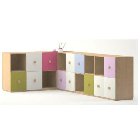 meuble de rangement en angle 18 casiers meubles rangement