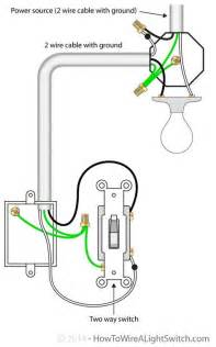 2 way switch with power source via light fixture how to
