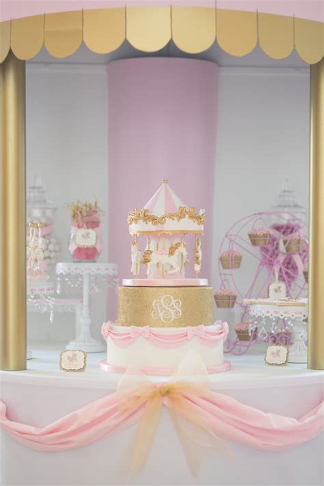 karas party ideas pink carousel birthday party karas party ideas