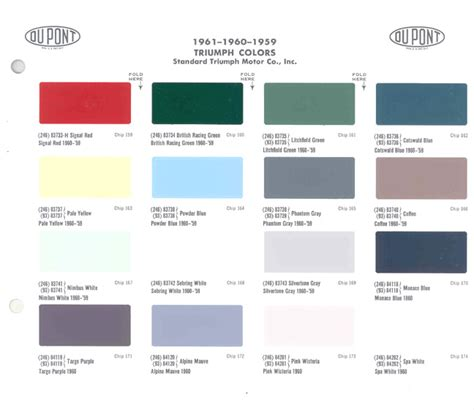 948 triumph herald colors