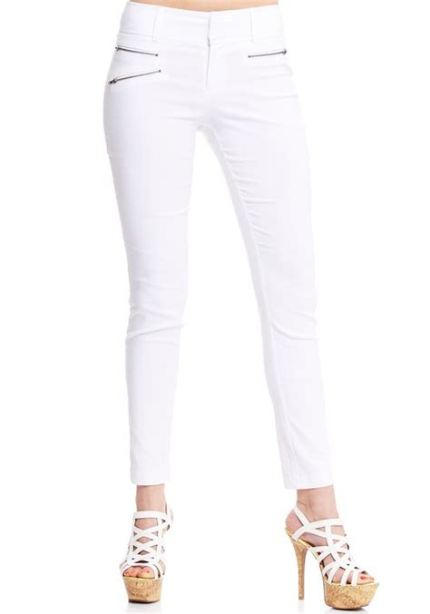 what brand are yolanda fosters white pants yolanda foster fashion millenium zip skinny pant