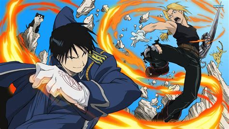 edward elric roy mustang edward elric and roy mustang fullmetal alchemist walldevil