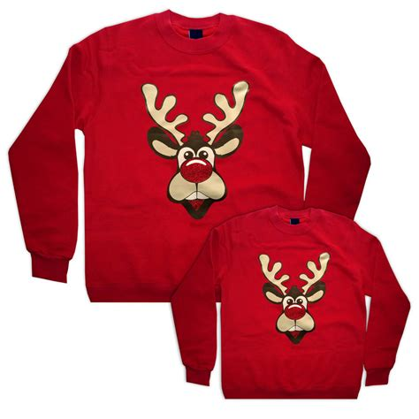 Matching Jumpers For Him And And Me Matching Rudolph Sweatshirts By