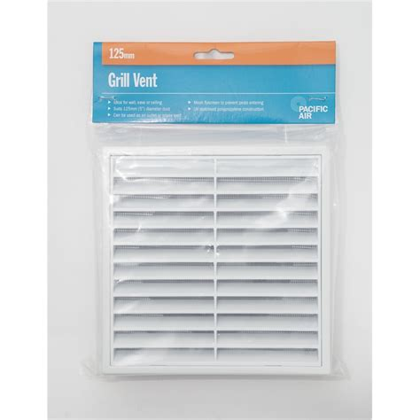 Pacific Kitchen Vent Pacific 125mm Pvc Air Grille Vent Bunnings Warehouse